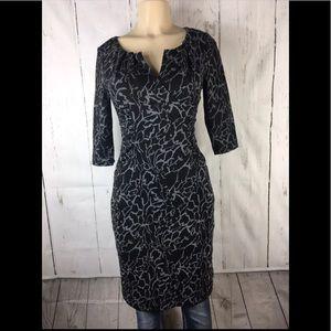 Adriana papel knit stretch lined dress size 4